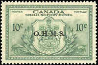 Canada Mint NH 1950 VF 10c Overprinted OHMS Scott #EO1 Special Delivery Stamp
