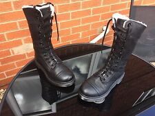Dr Martens 1914 black shearling triumph leather boots UK 5 EU 38 punk goth biker