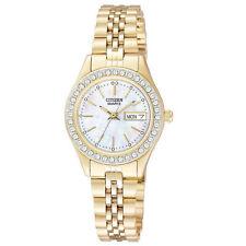 New Citizen Quartz Gold Stainless Steel Mop Dial Women's Watch - EQ0532-55D