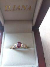 ILIANA 18CT YELLOW GOLD BERMESE RUBY AND DIAMOND RING