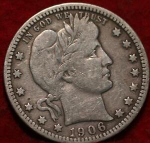 1906-O New Orleans Mint Silver Barber Quarter