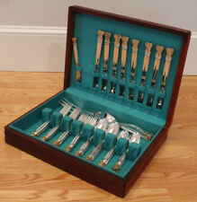 TOWLE STERLING SILVER 45 PIECE SERVICE FOR 8 IN CHEST - CELTIC WEAVE GOLD