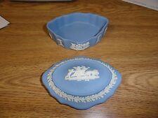 Vintage Wedgwood Oval Trinket Box w Jasperware Cupids Cherubs Roman