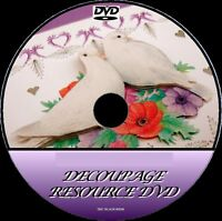 MASSIVE DECOUPAGE COLLECTION 25000 ITEMS CARD PAPER CRAFT & TAGS Etc DVD ROM NEW