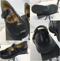 Birkenstock Footprints Sandals Shoes Sz 5 Women Black Leather EUC YGI H8S-42