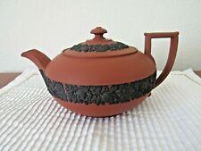 "Wedgwood Rosso Antico Jasperware 9 1/4"" in length teapot, Wedgwood only mark"