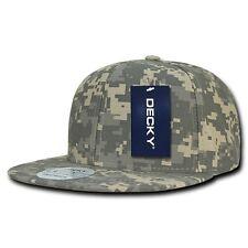 Universal Uni Digital Camouflage Flat Bill Snapback ACU Camo Baseball Cap Hat