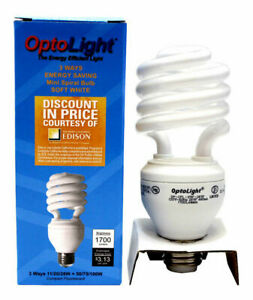 OptoLight 1700 Lumens 3 Way 50/75/100 Watts Mini Spiral Bulb Soft White