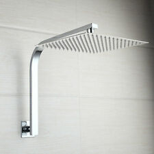 Bathroom Stainless Durable 8'' Rainfall Square Shower Head&Swan neck Shower Arm