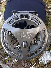 "Raven T5 Float Reel, Centerpin Reel 4 3/4"" Dark Titanium Finish, New!"