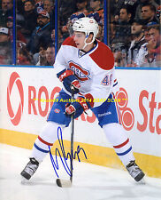 MICHAEL BOURNIVAL In ACTION Signed AUTO 8x10 Photo MONTREAL CANADIENS Star WOW