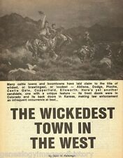Trail City, Kansas Wickedest Town in the West Genealogy