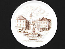 KAISER Miniature Plate Darmstadt Ludwigspiatz Mit Weiβen Turm WHITE TOWER German
