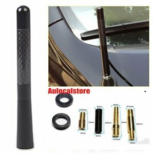Carbon Fiber Antenna 12cm Aerial Auto Roof FM/AM/Radio Signal Boosters Amplifier
