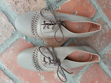 KOBE HUSK Oxford taupe leather brogues size 36 / 5 MADE IN AUSTRALIA EUC