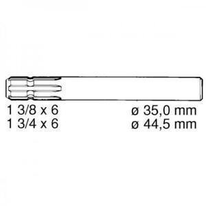 Anschlusswelle Zapfwellenstummel / Verlängerung einseitig 150 mm 1220 1512