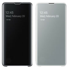 New Genuine Samsung Galaxy S10 Protective Clear View Folio Flip Cover Case White