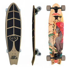 Easy People Longboards FT-1 Pintail Swallowtail Longboard Complete Deck Hawaiian