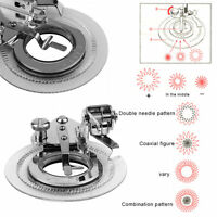 Round Disc Embroidery Presser Foot Flower Stitch For Home Sewing Machine F7