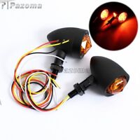 Universal Motorcycle LED Bullet Turn Signal Indicator Brake Running Light 10mm