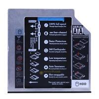 Hard Drive SATA 2nd HDD SSD Caddy for 9.5mm Universal CD / DVD-ROM Optical Bay #