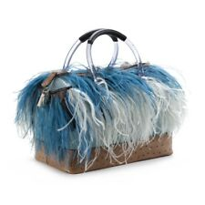 Furla 2012 Special Edition Burlesque Candy bag with Ostrich leather & feather