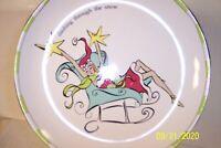 "Rosanna Santa Baby Set of 4 Christmas 8"" Salad / Dessert Plates"
