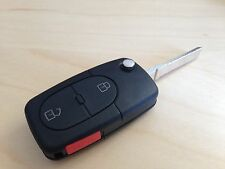 BRAND NEW AUDI A4 2 button KEY FOB SHELL REPLACEMENT KIT WITH LOGO and PANIC
