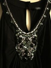 F&F Black Dress Jewels With Sequins Stunning Size 10 Wedding/Party/Prom/Cruise