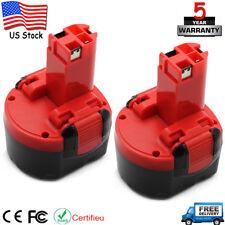 2 pack 9.6 Volt 2.0Ah Ni-cd Battery for Bosch BAT048 BAT049 BAT100 GDR PSR 9.6 V