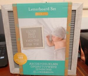 NEW Kate & Milo Letterboard Set Baby Announcement 188 letters & Numbers Message
