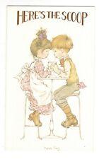 Vintage TEEN COUPLE HERE'S THE SCOOP Birthday Greeting Card w/ Envelope G7