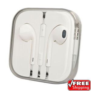 Apple iPhone 4 5 6 Plus 6S + iPod iPad Original OEM Earbuds Headphones 3.5mm