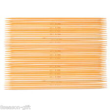 1Set Gift Bamboo Double Pointed Needles Natural UK11 3.0mm 15cm Long