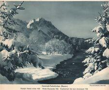 ALPINE SCENERY. Garmisch-Partenkirchen (Bayern) - Olympic Games winter 1936 1935