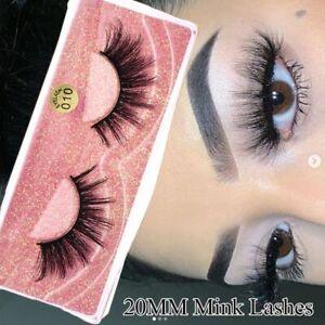 Eyelashes Handmade Natural Long Lashes False Eyelashes 3D Mink Hair Cross Wispy