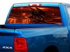P497 Dragon Rear Window Tint Graphic Decal Wrap Back Truck Tailgate