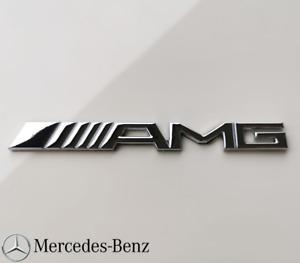 Mercedes Benz AMG Emblem Schriftzug Logo Heck Chrom Heckklappe NEU