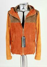 Burberry Brit Suede Leather Hooded Jacket EU46 Small / Medium RRP £1840 Hoody