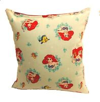 Little Mermaid Pillow Disney Princess Ariel & Flounder Pillow  Handmade In USA