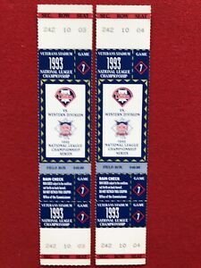 lot of (2) 1993 MLB NLCS tickets Phillies Braves UNUSED Phantom Game 7