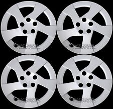 "4 New 2010-2015 Toyota Prius 15"" Wheel Covers Hub Caps Full Rim Snap on Hubs R15"