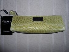 NEW DIVINE OSPREY yellow anaconda LEATHER BRUSH CASE/MAKE UP BAG/PURSE   RRP £49