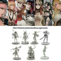 1:35 Resin Figure Model Kit Women Soldier Unpainted K9I0