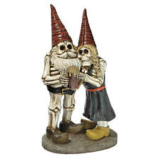 Toast the Living Dead Skeleton Graveyard Couple Halloween Gnome Yard Sculpture