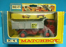 MATCHBOX SUPERKINGS K4 LEYLAND TIPPER TRUCK VINTAGE 1969 1st edition DIECAST MIB