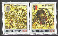 Yugoslavia1990 Sc2061-62  Mi2430-31  2v  mnh Mercury Mine at Idrija,500th Anniv.