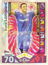 Match Attax 2016/17 Premier League -  PL4 Frank Lampard - Player Legends