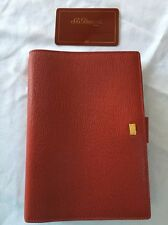 ORGANISER/FILOFAX-S.T.DUPONT of PARIS Red Leather Personal Size Agenda-VERY RARE