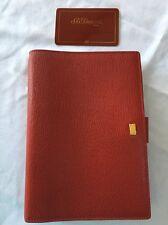 ORGANIZZATORE / filofax-s.t. Dupont di PARIGI in pelle rossa dimensioni personali agenda-very RARA